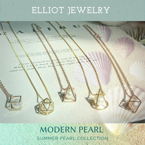 Hexagon Pearl Pendent | Elliot Jewelry