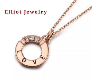 Diamond Necklace in 18K Gold - Elliot Jewelry