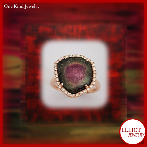 Watermelon Tourmaline Ring | Elliot Jewelry | Elliot Jewelry