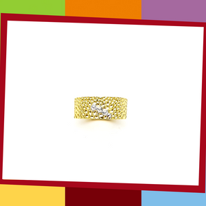 The Manta Silver Collection, BOLD Ring.   Manta Bold Ring | Elliot Jewelry  925 Silver coated with Yellow and White Gold