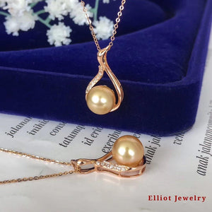 Pearl Pendent with Diamond | Elliot Jewelry
