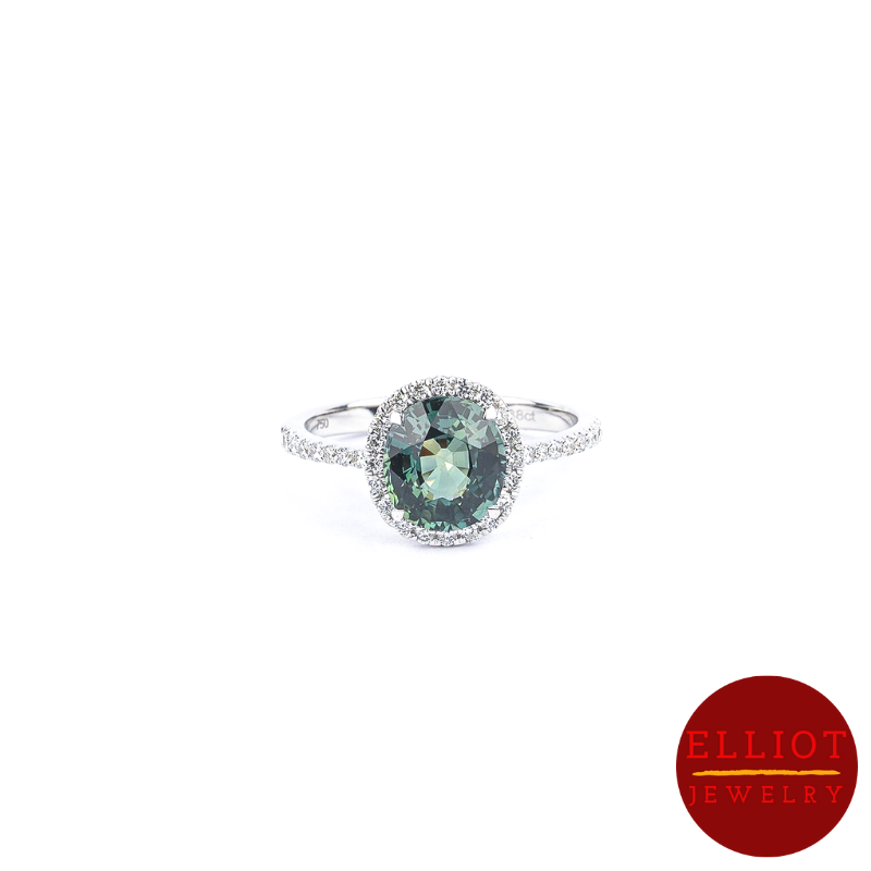 Teal Sapphire Ring | Elliot Jewelry