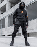 V3-2 Black Orange Hoodie