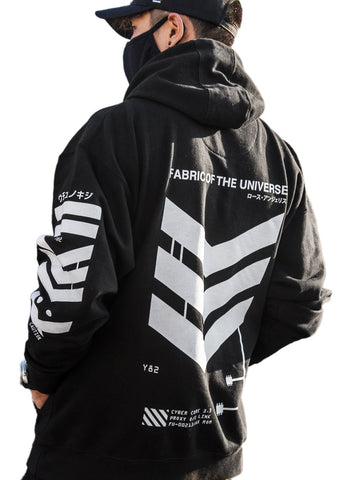 V3-B1 Black Tech Hoodie - Fabric of the Universe