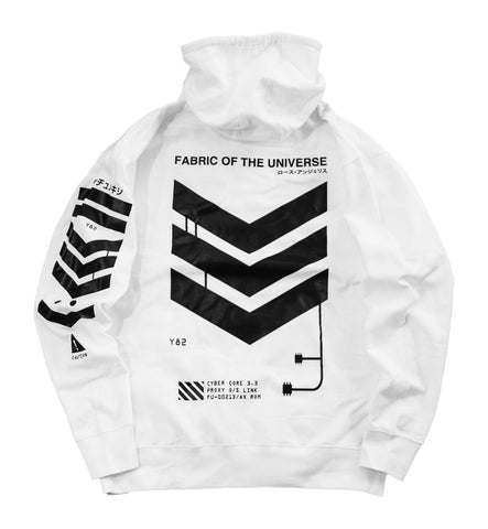 V3-W1 White Tech Hoodie - Fabric of the Universe
