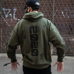 Y-2020 Military Green Tech Hoodie - Fabric of the Universe