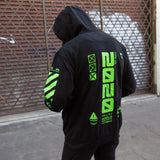 Y-2020 Black Hoodie - Fabric of the Universe