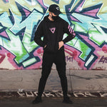 XB-01 Black Tech Hoodie - Fabric of the Universe