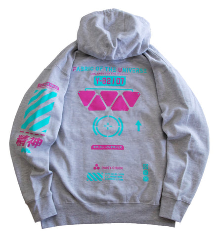 CC-G1 Grey Tech Hoodie - Fabric of the Universe