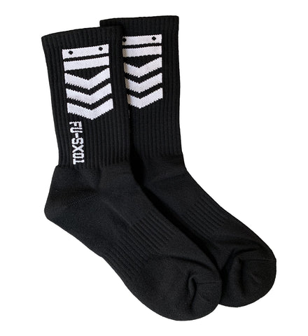 Black V3-1A Crew Socks - Fabric of the Universe