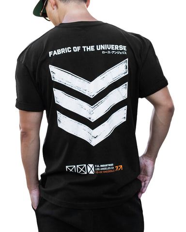 V3-02/BW Short Sleeve T - Fabric of the Universe