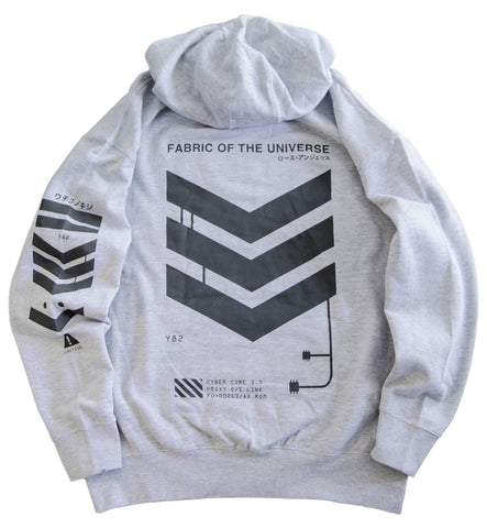 V3-G1 Grey Tech Hoodie - Fabric of the Universe