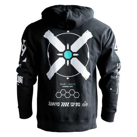 X-CORE C Black Heavyweight Hoodie