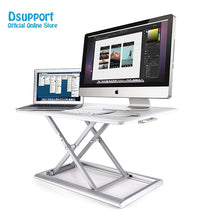 Load image into Gallery viewer, Standing Desk Converter Height Adjustable Sit Stand Up Desk Aluminum Lapdesk for Monitor and Laptop Sit to Stand in Seconds