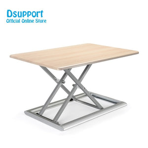 Standing Desk Converter Height Adjustable Sit Stand Up Desk Aluminum Lapdesk for Monitor and Laptop Sit to Stand in Seconds