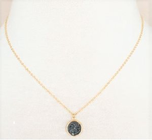 Druzy Drop Necklace by MINQ - ShopMINQ
