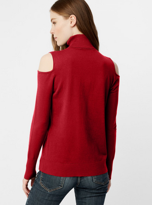 Signature Cold Shoulder Turtleneck by 525 America - ShopMINQ