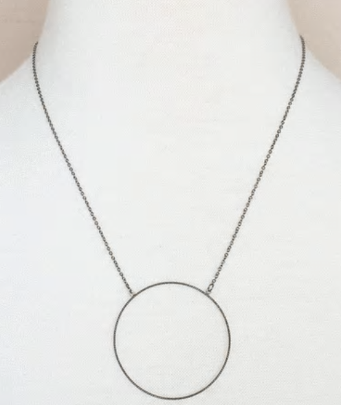 Large Circle Delicate Necklace by MINQ - ShopMINQ