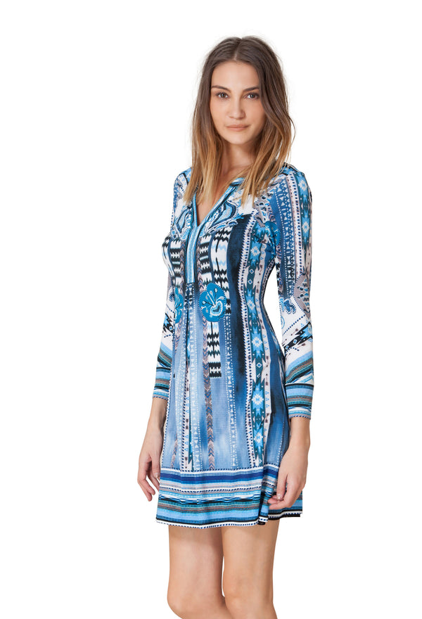 Sadie Beaded Jersey Dress by Hale Bob - ShopMINQ