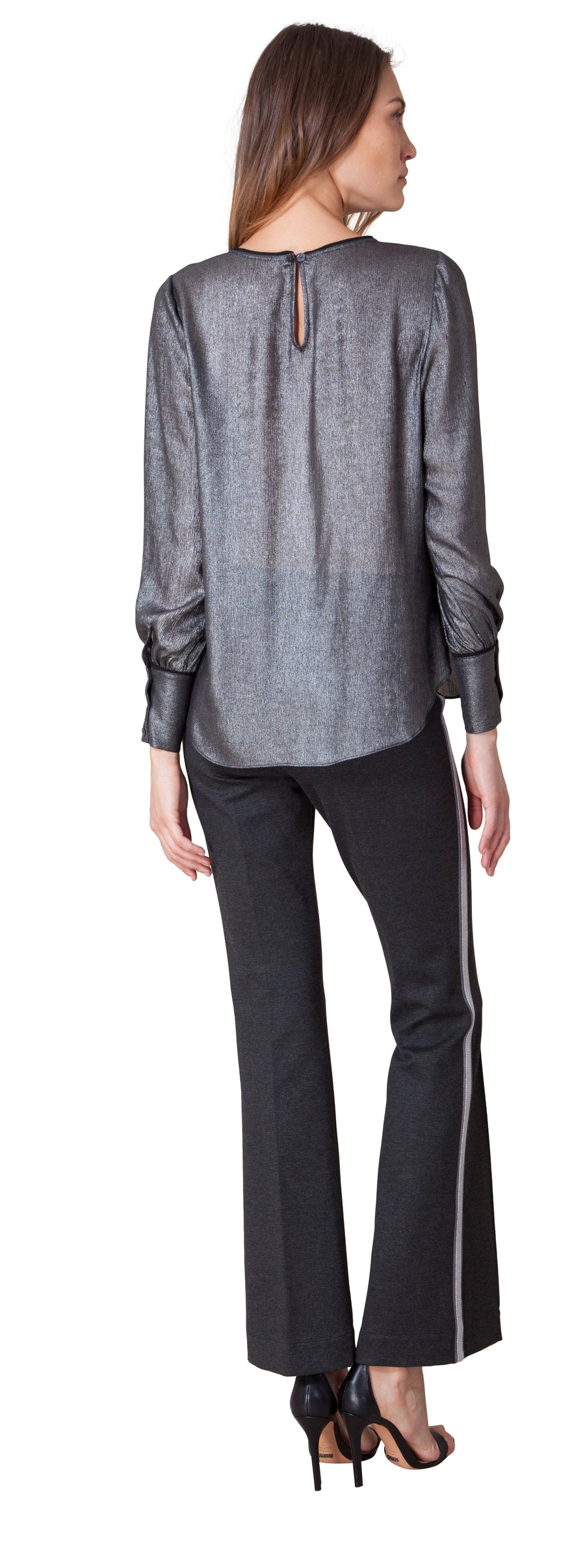 Thandie Metallic Foiled Blouse by Hale Bob - ShopMINQ