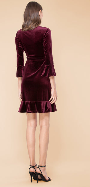 L/S Velvet Bibiana Dress by Hale Bob - ShopMINQ