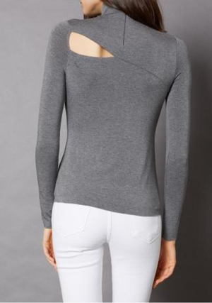 Audrey Cut Out Turtle Neck Top by Bailey 44 - ShopMINQ