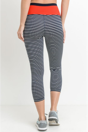 Bring It Striped Leggings by MINQ - ShopMINQ