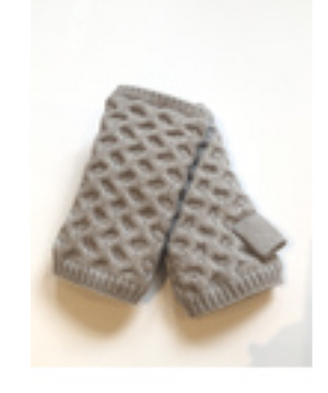 Honeycomb Fleece Lined Fingerless Gloves by Echo - ShopMINQ