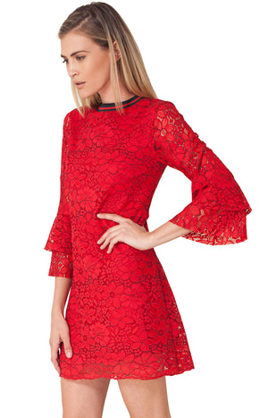 Antonine Lace Dress by Hale Bob - ShopMINQ