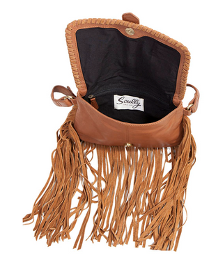 Leather and Suede Trim Handbag - ShopMINQ