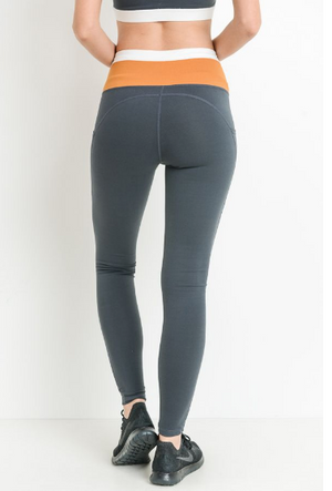 Highwaist Dual Color Full Leggings by MINQ - ShopMINQ