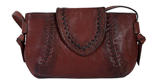Kala Rustic Whip Stitch Handbag - ShopMINQ