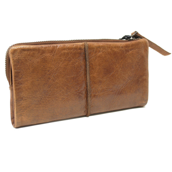 Andi Wristlet by Latico in Cognac and Black - ShopMINQ