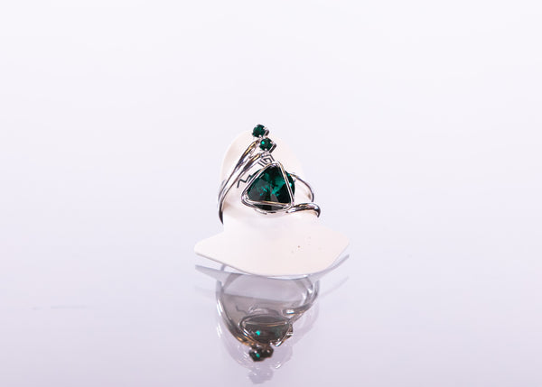Austrian Swarovski Adjustable Ring Made in Italy by Malu Bijoux - ShopMINQ