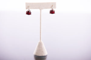 Austrian Swarovski Triangle Gem Earrings Made in Italy by Malu Bijoux - ShopMINQ