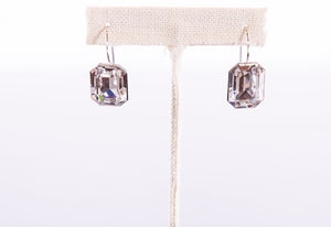 Austrian Swarovski Emerald Cut Earrings Made in Italy by Malu Bijoux - ShopMINQ