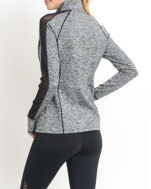 Mesh Panel Sleeve Hybrid Jacket by MINQ - ShopMINQ
