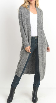 Open Front Knit Cardigan by MINQ - ShopMINQ