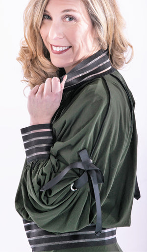 On-Trend Bomber Jacket With Detail Sleeves by Petit Pois - ShopMINQ