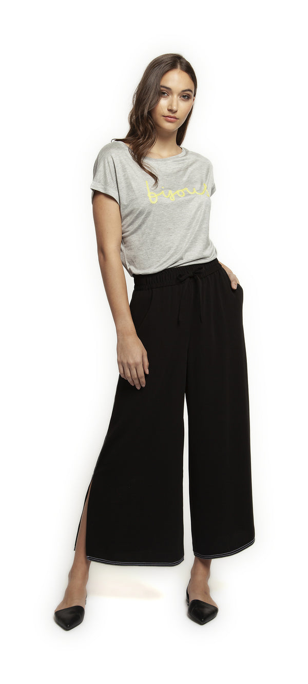 Pull on Culotte w/ Contrast Stitching by Dex