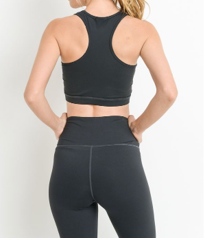 Color Wrap Racer Back Sports Bra by MINQ - ShopMINQ