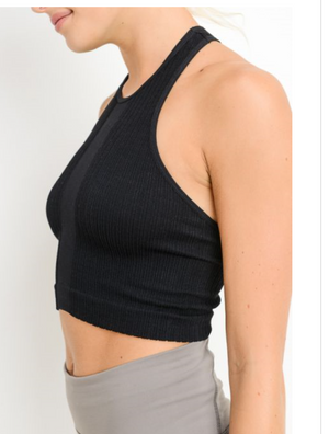 Seamless Racerback Crop Tank by MINQ