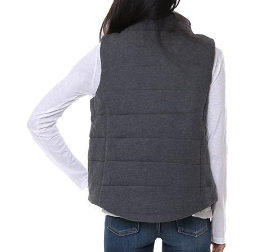 Quilted Fuzzy Vest by Staccato - ShopMINQ