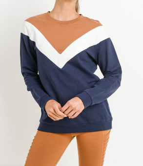 Vintage Look Triple Color Sweater by MINQ - ShopMINQ