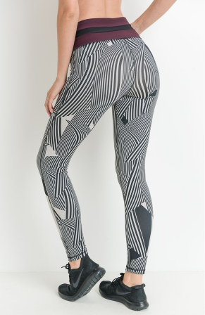 Zen Garden Colorblock Highwaist Leggings by MINQ - ShopMINQ