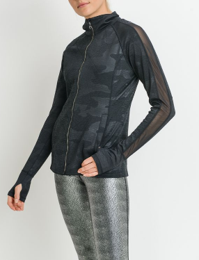 Favorite Zip-up Camo Mesh Jacket by MINQ - ShopMINQ