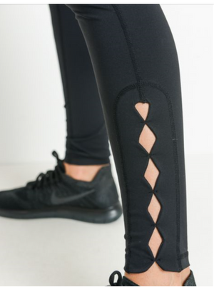Highwaist Row of Rhombus leggings by MINQ - ShopMINQ
