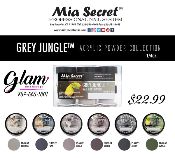 Gray Jungle Acrylic Collection