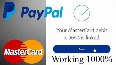 Virtual Credit Card For All Country PayPal Verification - 5$ Loaded