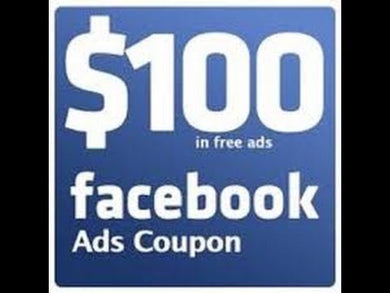 FACEBOOK ADS CUPON 100$